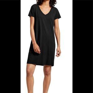 Michael Stars Short Sleeve V-Neck T-Shirt Dress